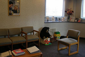 Dr. David Spilkia office has comfortable zone for kid