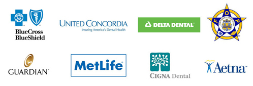 Philadelphia Dental Health - Financing and Insurance company logos